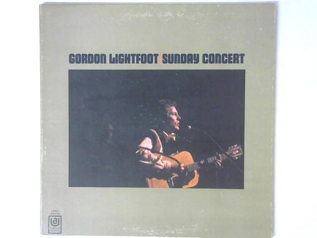 Sunday Concert LP By Gordon Lightfoot