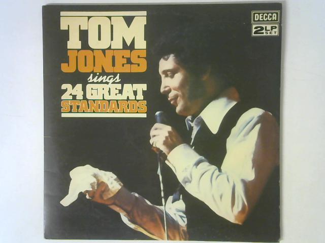 Tom Jones Sings 24 Great Standards 2x LP By Tom Jones