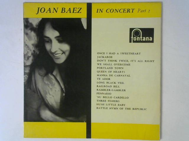 In Concert Part 2 LP By Joan Baez