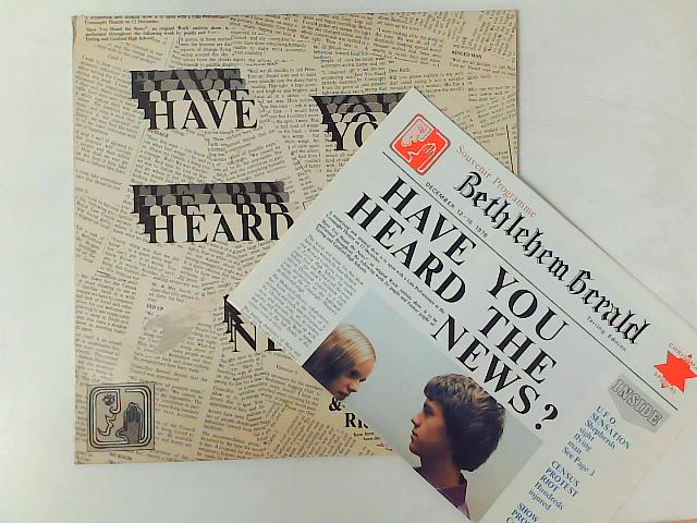 Have You Heard The News? LP with NEWSPAPER By Tarring Secondary School For Boys