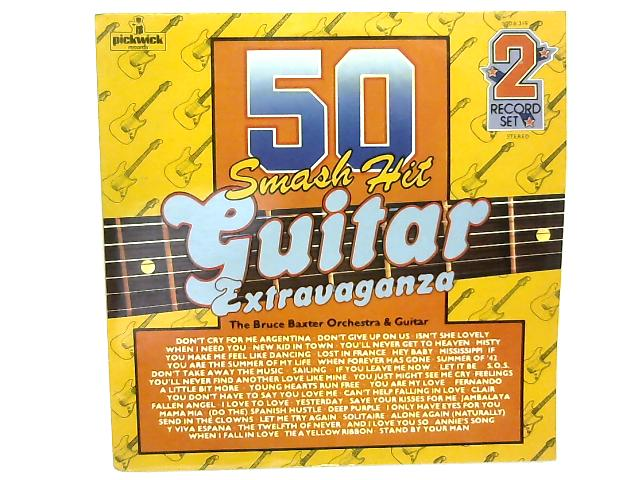 50 Smash Hit Guitar Extravaganza 2xLP By Bruce Baxter Orchestra