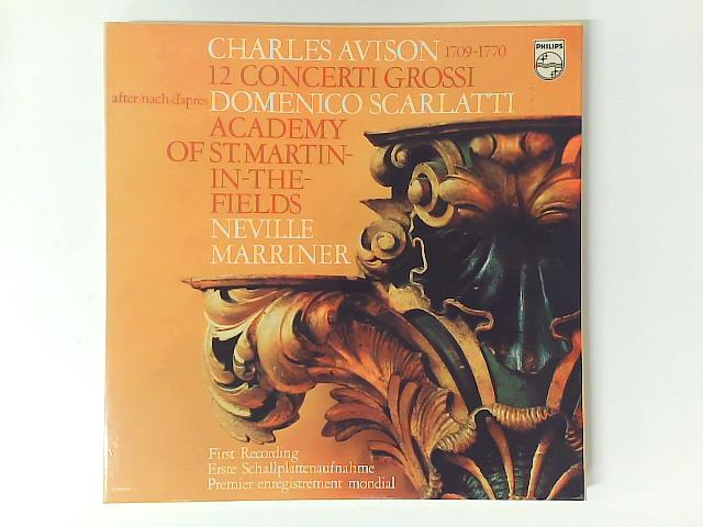 12 Concerti Grossi After Domenico Scarlatti 3xLP BOXSET with BOOKLET By Charles Avison