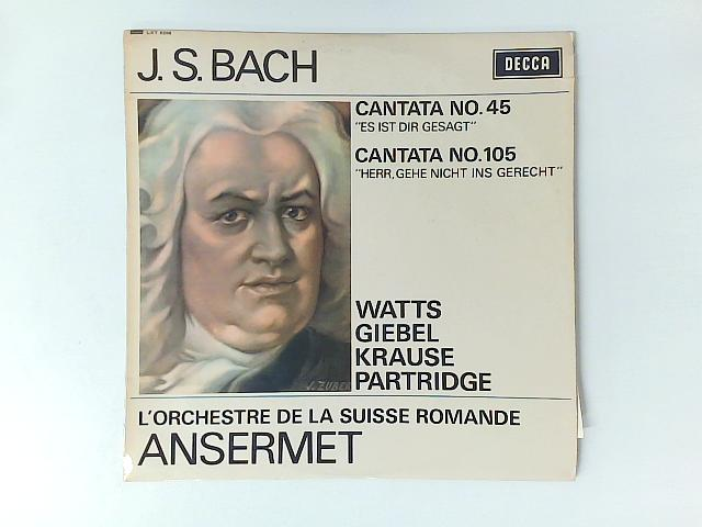 Cantata No. 45 / Cantata No. 105 LP By Johann Sebastian Bach
