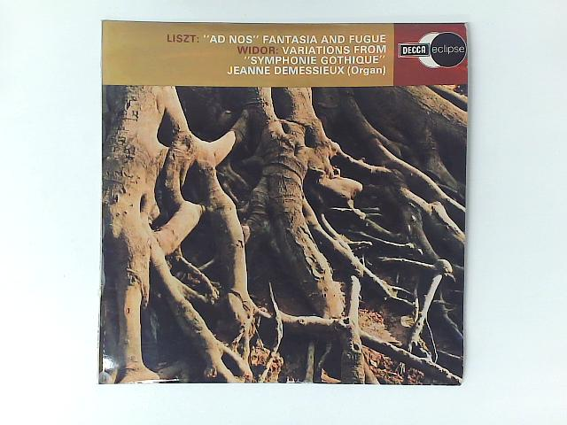"""""""Ad Nos"""" Fantasia And Fugue - Variations From """"Symphonie Gothique"""" LP By Jeanne Demessieux"""