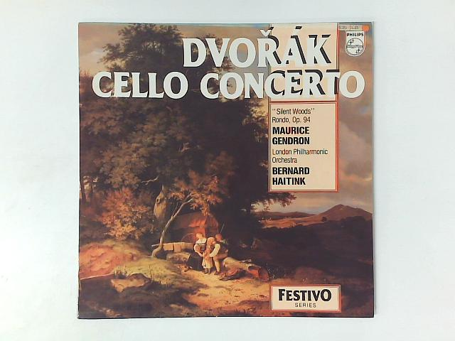 """Dvo?ák Cello Concerto; """"Silent Woods""""; Rondo, Op. 94 LP By Maurice Gendron"""