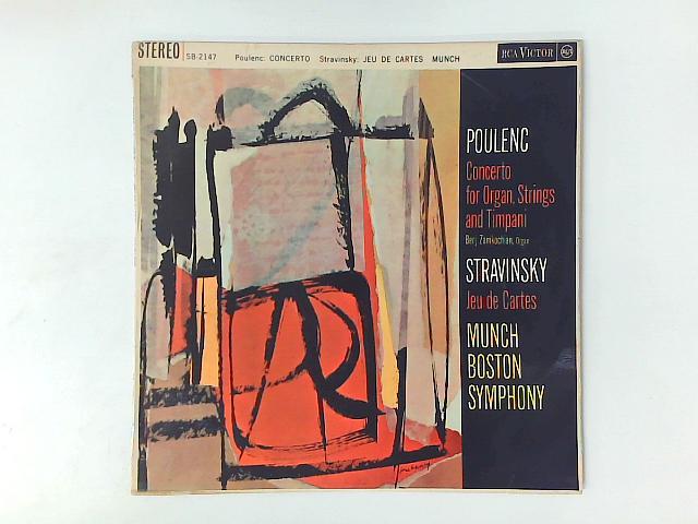 Concerto For Organ, Strings And Timpani / Jeu Des Cartes LP By Francis Poulenc