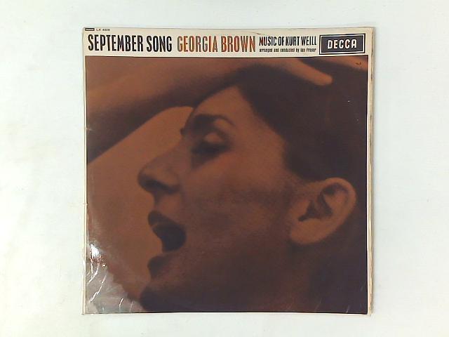 September Song - Music Of Kurt Weill LP mono By Georgia Brown