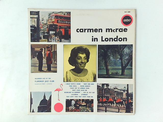 Carmen McRae At The Flamingo Jazz Club LP By Carmen McRae