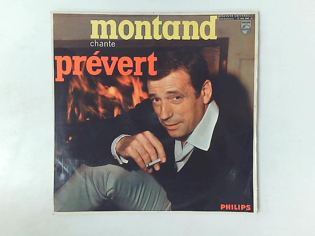 Yves Montand Chante Jacques Prévert LP By Yves Montand