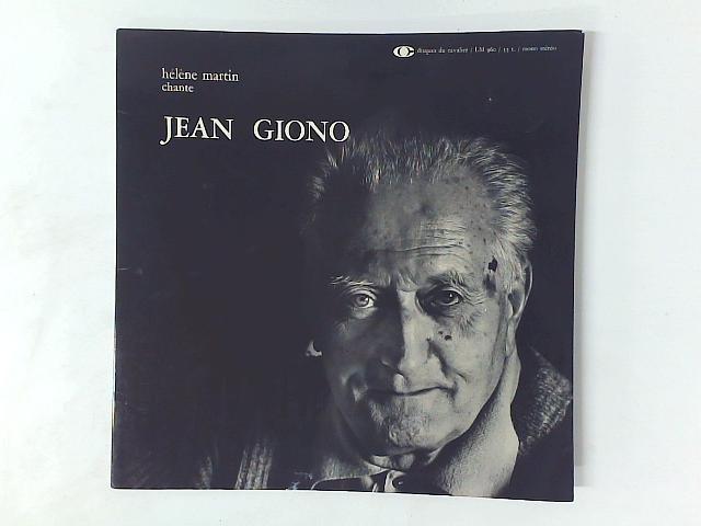 Hélène Martin Chante Jean Giono LP GATEFOLD By Hlne Martin