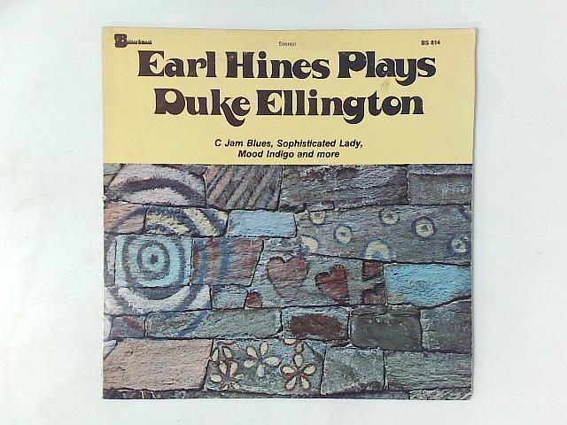 Earl Hines Plays Duke Ellington LP By Earl Hines