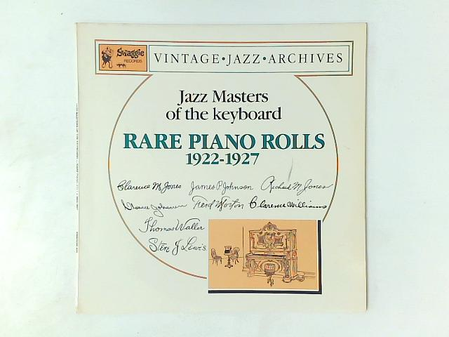 Rare Piano Rolls 1922 - 1927 LP By Various