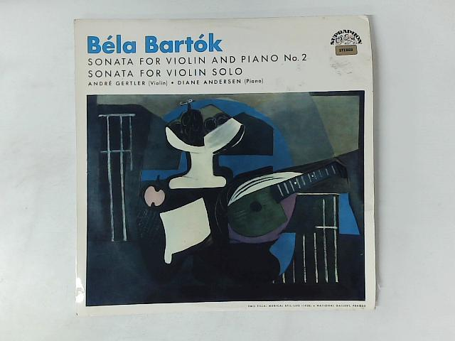 Sonata For Violin And Piano No 2 / Sonata For Violin Solo LP By Bla Bartk