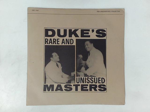 Duke's Rare And Unissued Masters LP By Duke Ellington