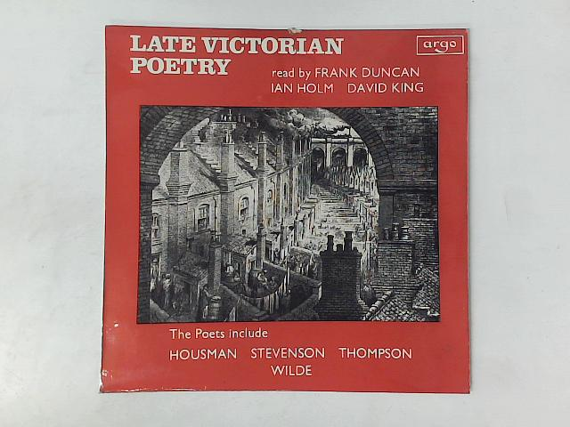 Late Victorian Poetry LP By Various