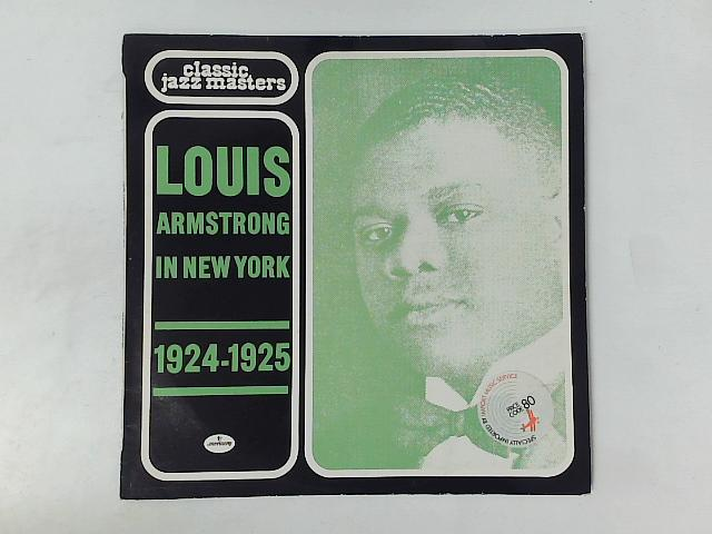 Louis Armstrong In New York 1924-1925 LP By Louis Armstrong