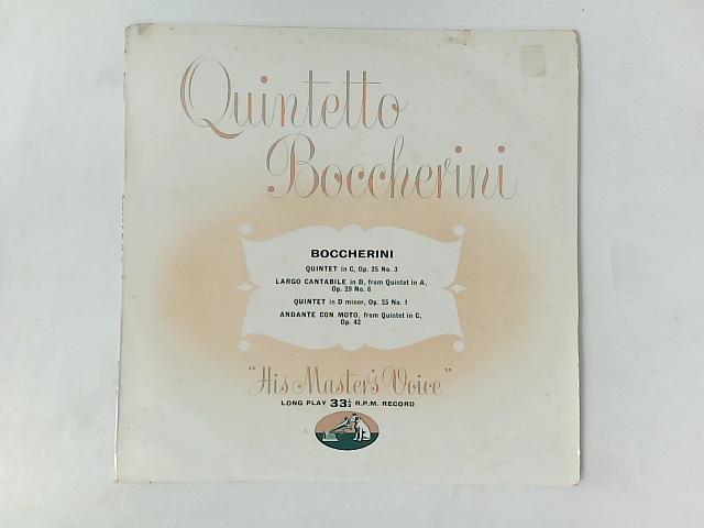 Quintet In C ,Op 25,Etc LP By Luigi Boccherini
