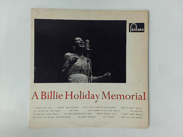 A Billie Holiday Memorial LP COMP By Billie Holiday
