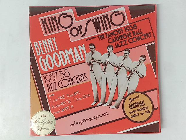King Of Swing - Benny Goodman 1937 - 38 Jazz Concerts 4x LP box set By Benny Goodman