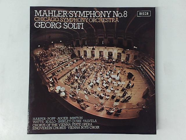 Symphony No. 8 2x LP box set By Gustav Mahler