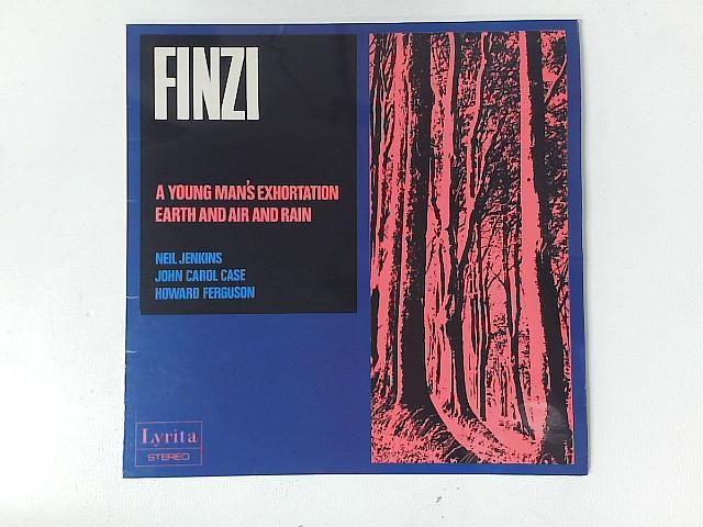 A Young Man's Exhortation / Earth And Air And Rain LP with PRINTED INSERT By Gerald Finzi