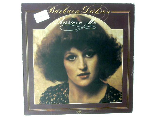 Answer Me LP By Barbara Dickson