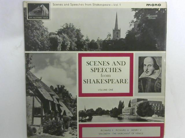 Scenes And Speeches From Shakespeare?Vol. I LP mono By William Shakespeare