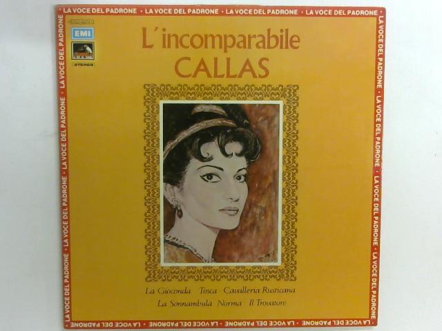 L'Incomparabile LP By Maria Callas