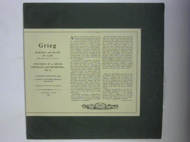 Grieg - Peer Gynt Suite No. 1, Op. 46 & Concerto In A Minor For Piano And Orchestra, Op. 16 LP By Madeleine Deschamps