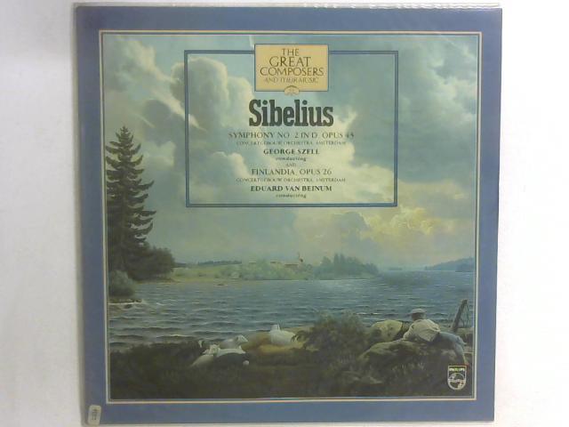 Symphony No. 2 In D, Opus 43 And Finlandia, Opus 26 LP By Jean Sibelius
