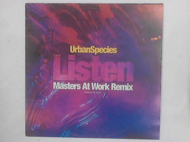 Listen (Just Listen) (Masters At Work Remix) 12in By Urban Species