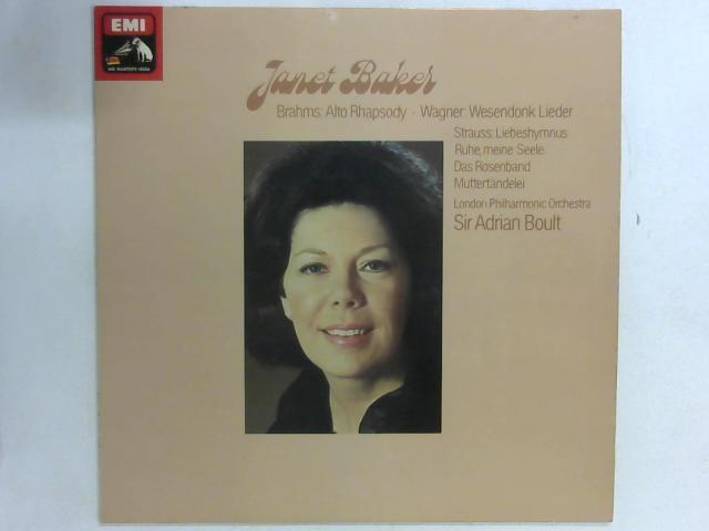 Alt-Rhapsodie Wesendonk-Lieder LP By Janet Baker