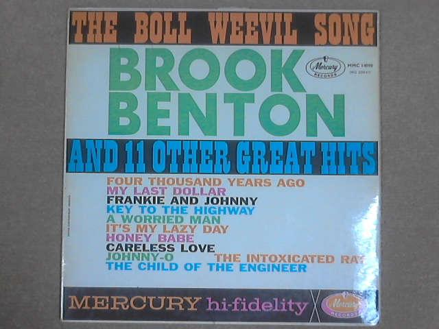The Boll Weevil Song And 11 Other Great Hits LP (MMC 14090) by Brook Benton