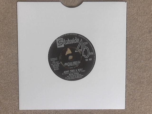 "Jenny Take A Ride! 7"" (SS 481) by Mitch Ryder & The Detroit Wheels"